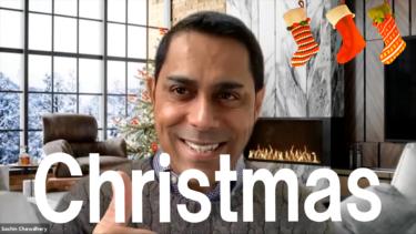 サチン・チョードリーから皆さんへ☆クリスマスのメッセージ動画をお届けします〜Merry Christmas!